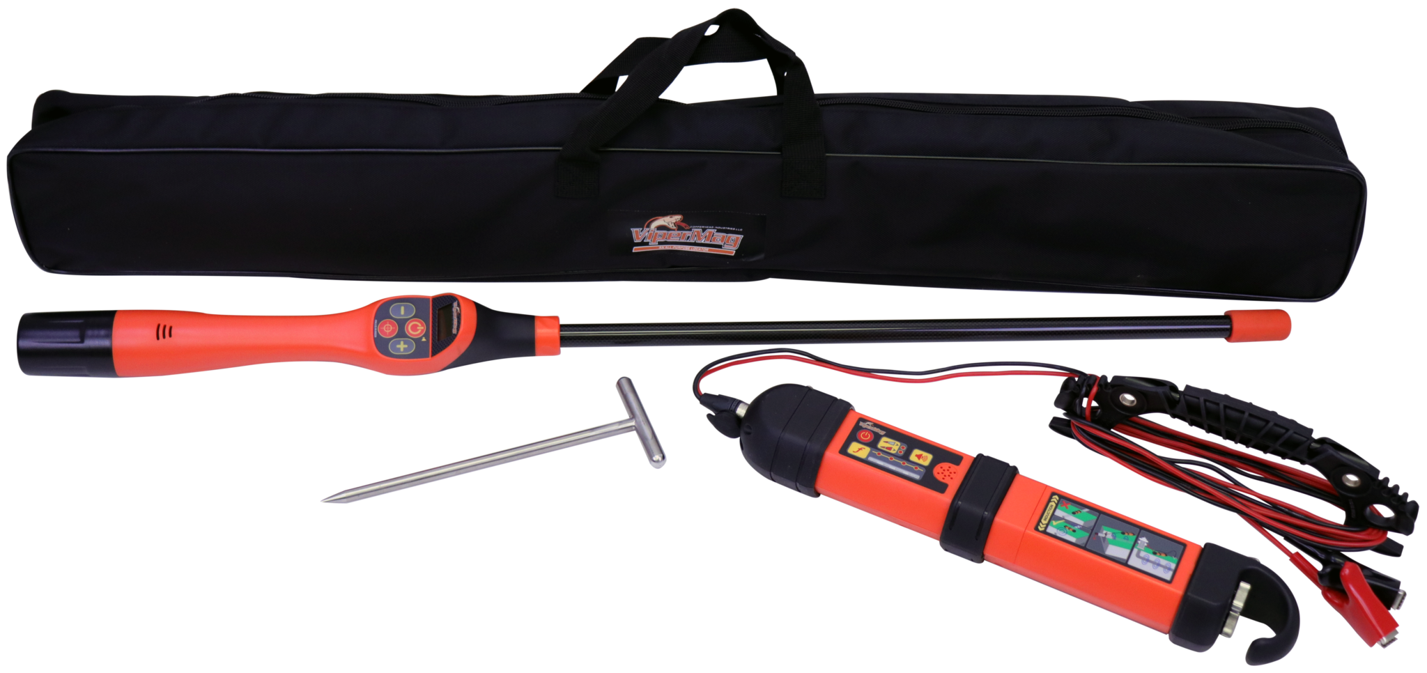 Metal detector and active frequency locator for locating underground utilities